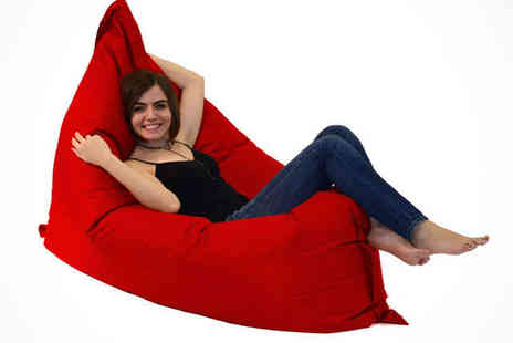 Loveyourbeanbag - EMO Beanbag in a Choice of Colour from Red, Blue, Pink, Black, Green, or Orange - Save 74%