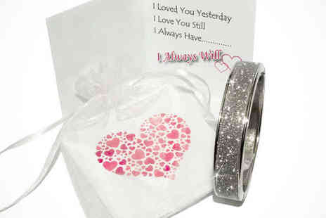 Aspire jewellery online  - Sparkling Valentines Bangle - Save 86%