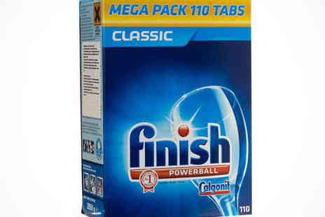 Finish Dishwasher Tablets - 110 Pack of Finish Powerball Dishwasher Tablets, Delivery Included - Save 50%