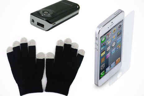 iPhone Bundle - iPhone Gloves, Power Bank, and Screen Protector, Delivery Included - Save 0%