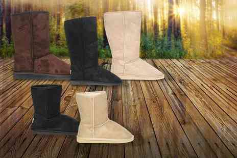 Avendita - Pair of ladies The Boot Australia winter faux fur lined boots - Save 65%