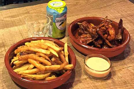 Spitroast - Eight Chicken Wings, Hand Cut Chips, One Dip, and a Soft Drink Each for One  - Save 0%