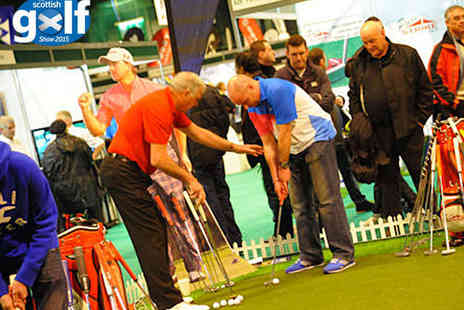 SECC -  Ticket  to The Scottish Golf Show with Three Rounds of Golf - Save 13%