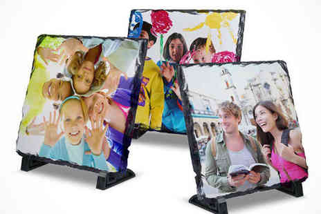 Click Wrap - Personalised Photo Slate - Save 63%