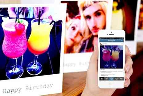Instajunction - Personalised Instagram Polaroid Style Greeting Cards - Save 42%
