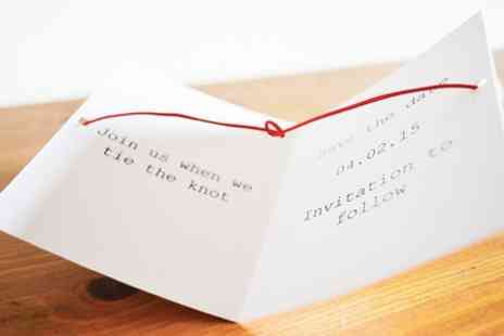 Instajunction - Personalised Instagram Polaroid Style Tie The Knot Cards  - Save 44%