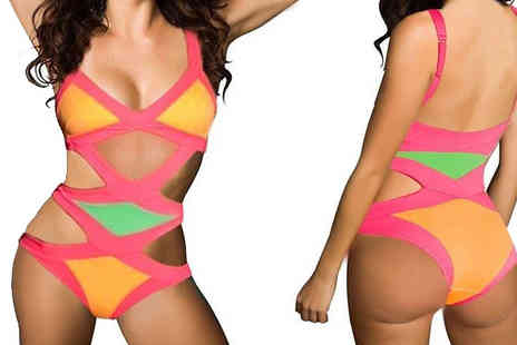 Just Fiver - Rock some poolside glamour with the sexy Bandage Monokini - Save 57%
