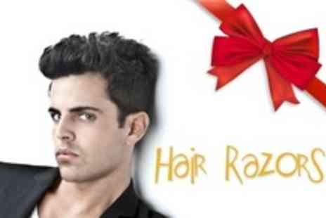 Hair Razor - Mens Haircut and Wet Towel Shave Plus Head Massage - Save 60%