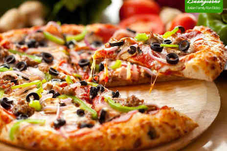 Buongiorno - Pizza or Pasta Dish with Glass of Wine Each for Two - Save 56%
