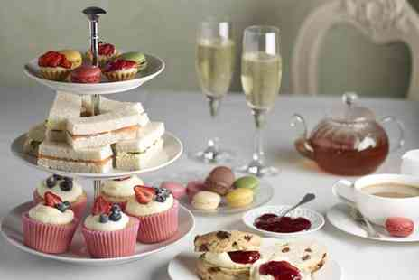 Tea on the Wall - Sparkling afternoon tea for Two including a glass of bubbly  - Save 50%