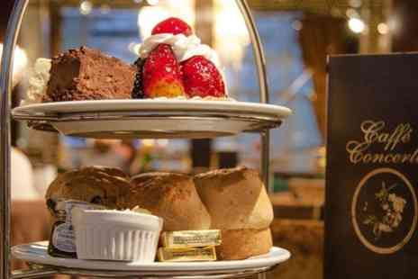 Caffe Concerto - Afternoon Tea For Two Plus Prosecco  - Save 0%