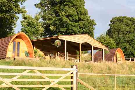 Powys Pods - Two nights stay in a wooden pod including jam and late check out  - Save 40%