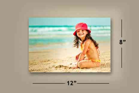 "Fast Canvas Prints - Personalised 8"" x 12"" A4 Canvas Print Worth  - Save 85%"