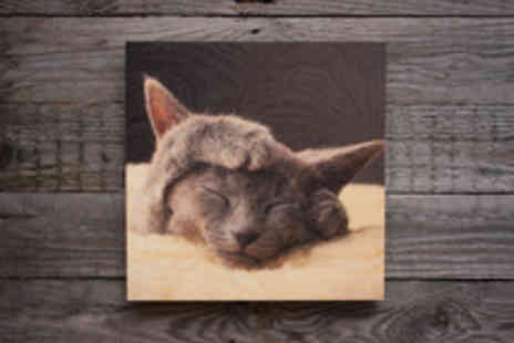 Woodpic - Custom Photo Print on Sustainable Wood in a Choice of Sizes - Save 49%