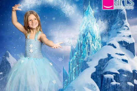 Arts Photography - Winter Princess Photo Shoot for up to Two Children Including Outfit Hire, 6x4-Inch Print, and £25 Studio Credit - Save 91%