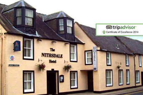 The Nithsdale Hotel - One night stay for two with breakfast with 2 course dinner & sparkling perry on arrival  - Save 44%
