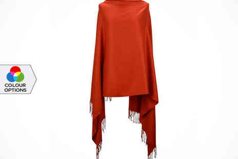 Catwalk Glamour - Cashmere Wool and Silk Pashmina in Choice of Colour - Save 0%