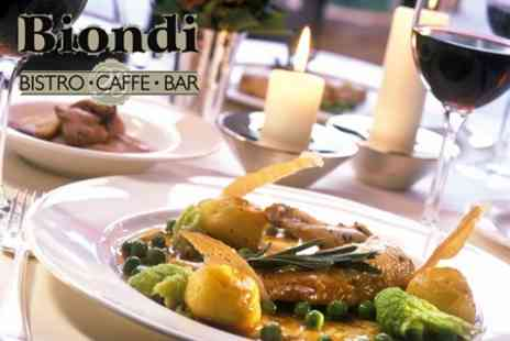 Biondi Bistro - Two Course Lunch For Two With Glass of Prosecco Each - Save 61%