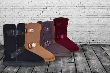 Evaniy Accessories - Pair of merino wool buckle boots  - Save 72%