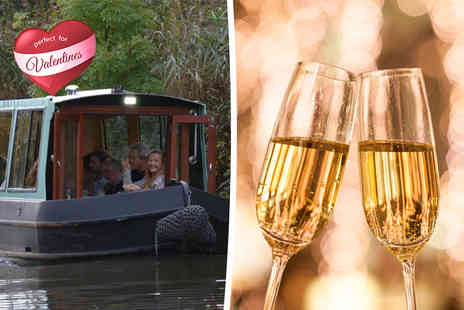 Lancashire Canal Cruises - Two hour romantic boat cruise for Two including Champagne & canapes  - Save 57%