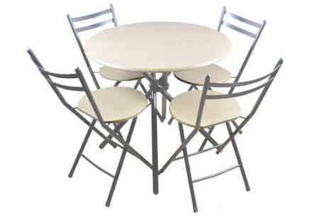 Home accessories - Butterfly White Dining Table Set with 4 Chairs - Save 47%