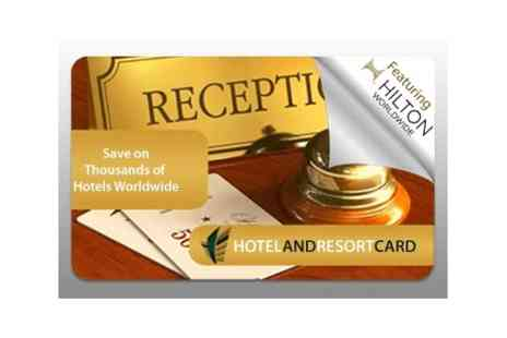 Marketing & Promotions International  - £20 for a Hotel and Resort eGift card featuring Hilton hotels world wide  - Save 90%