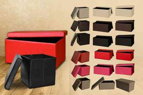 DIRECT FURNITURE SUPPLIERS - Faux leather ottoman storage cube  - Save 76%