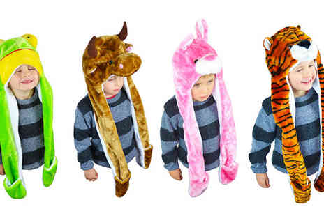 Wholesale Solutions  - Childrens 3 in 1 Animal Hat  - Save 60%