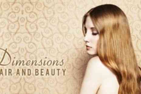 Dimensions Hair and Beauty - Full Head of Colour or Half Head Highlights With Cut and Conditioning Treatment - Save 67%