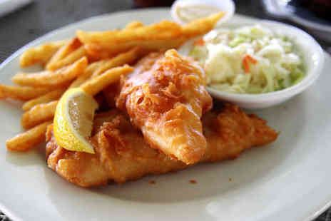 The Brasserie Fish and Grill  - Fish and Chips for Two  - Save 65%