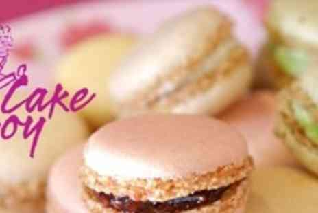 Cake Boy - Twelve Mini French Macaroons For Two Plus Glass of Champagne Each - Save 55%