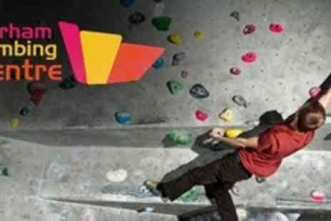 Durham Climbing Centre - Beginners Climbing Induction With Lifetime Membership and Refreshments - Save 68%