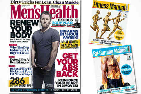 Mens Health  -  11 Issue Subscription plus Free Book, Free Delivery - Save 57%