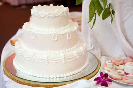 Precise Cakes - Three tier luxury bespoke wedding cake including delivery  - Save 60%