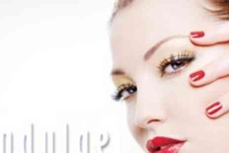 Indulge Tanning and Beauty - Bold Brows Plus Shellac Manicure - Save 59%