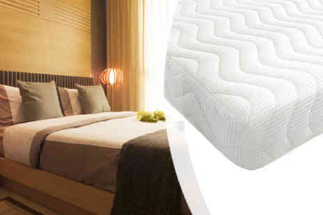 DUREST BEDS  - Reflex Foam Mattress with 2 Pillows - Save 65%