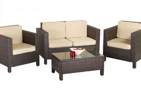 Cozy Bay - Rattan Deep Seating Garden Furniture Set - Save 50%