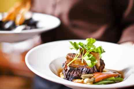 White Bull - Two Courses & Bubbly for Two  - Save 47%