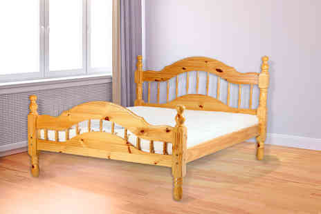 Fishoom - Single solid pine bed frame - Save 60%