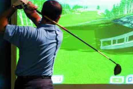 The Golf Plaza - One Hour Golf Simulator Session with Four Beers - Save 60%