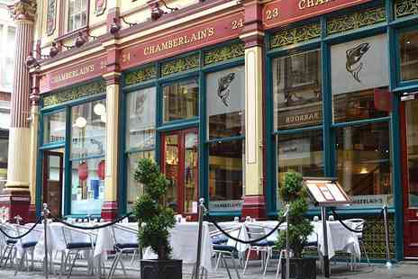 Chamberlains - Two course Sunday lunch for Two with a glass of Prosecco and coffee each  - Save 53%