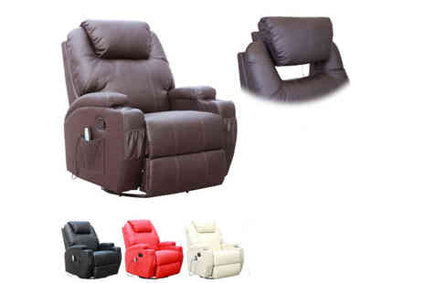 Sonic Online - Cinemo 9 in 1 Leather Heated Recliner Chair - Save 61%
