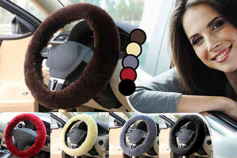 Evaniy Accessories - Sheepskin steering wheel cover  - Save 80%