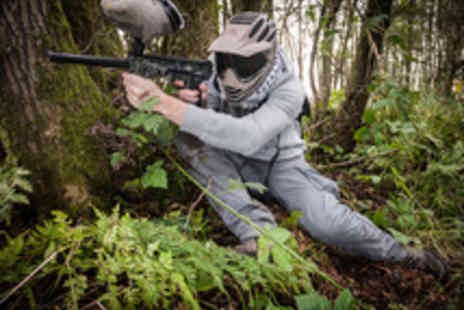 Skirmish Paintball Games - Paintball Entry, Equipment and 100 Paintballs for up to 15 Players - Save 91%