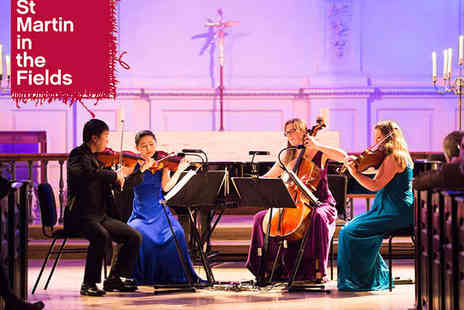 St Martins  - Two Tickets to St Martins Chamber Music Competition 2015 Final - Save 52%