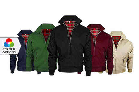 fabdeals - Mens Harrington Style Bomber Jacket in a Choice of Colour - Save 67%