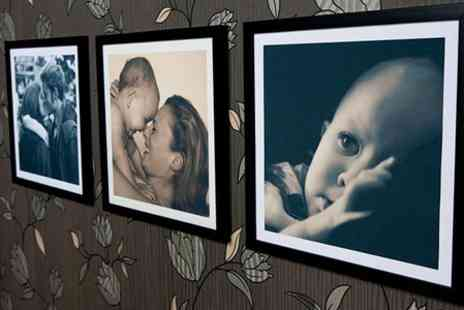 Mezoo UK - Personalised Framed Canvas Print with Choice of Frame and Style  - Save 91%