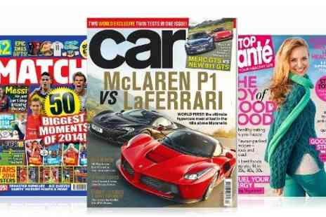 Great Magazines - Choose One Magazine from Twenty Titles  With Free Delivery - Save 46%