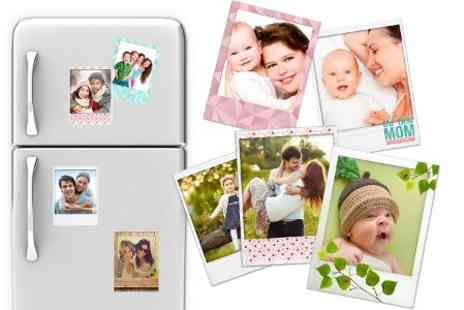 Prentu - 6, 12, 18 or 24 Personalised Photo Magnets in Polaroid Style  - Save 50%