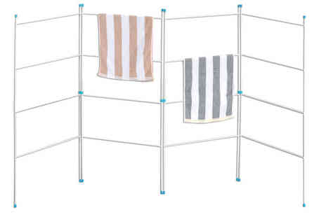 Home Discount  -  four Fold Clothes Airer - Save 74%